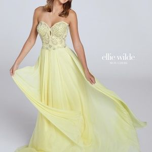 NWT! Yellow Prom Dress